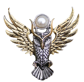 Owl of Athena Brooch (BB12B)