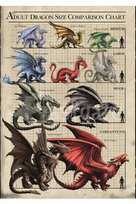 Dragon Size Chart Card (AN78)