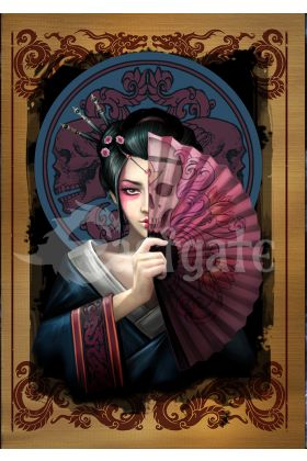 Geisha Skull Card (AN83)
