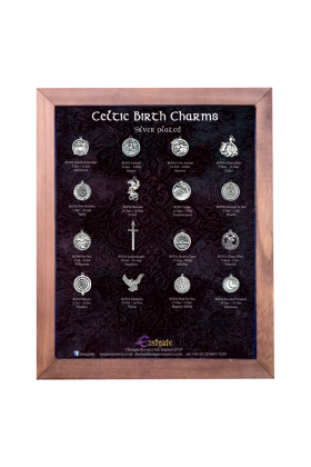 Celtic Birth Charms Silver Plated Display