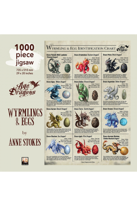 Anne Stokes Wyrmlings & Eggs 1000 Piece Jigsaw Puzzle