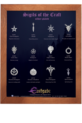 Sigils of the Craft - silver plated