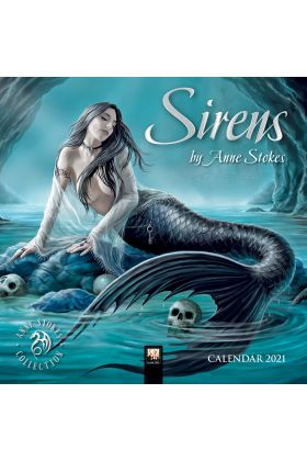Anne Stokes Sirens Mini Wall Calendar 2021 - COMPLETELY SOLD OUT, SORRY.